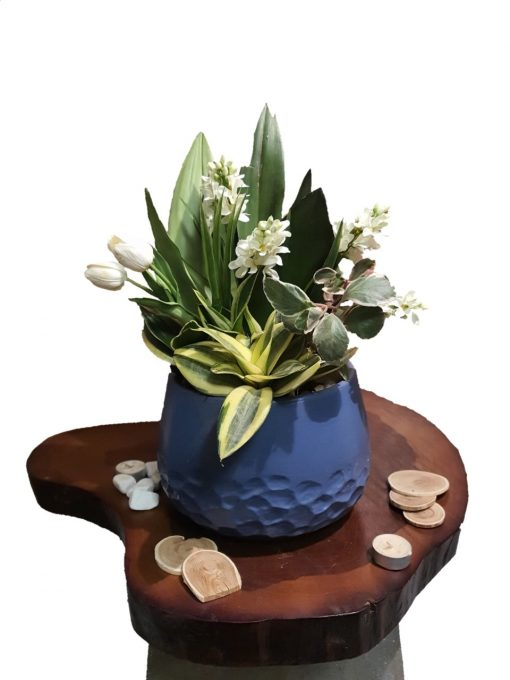 Purify air plants white Artificial flowers with pot nabatdelivery