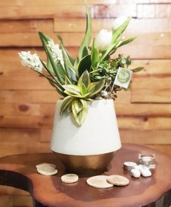 Purify air plants white Artificial flowers with white pot nabatdelivery