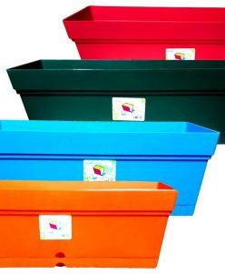 حوض للزراعة عدد 4 اللوان مختلفة nabatdelivery